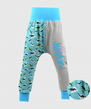 Cosy Pants Dinos Grey/Blue