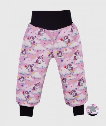 Waterproof Softshell Pants Unicorns Pink