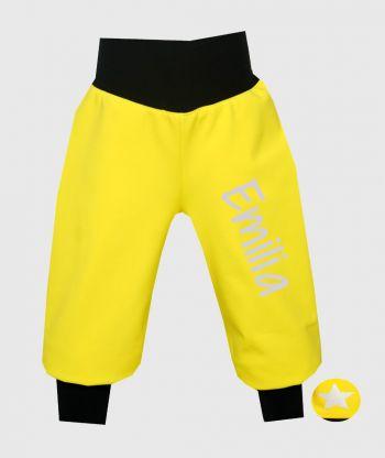 Waterproof Softshell Pants Sunny Yellow
