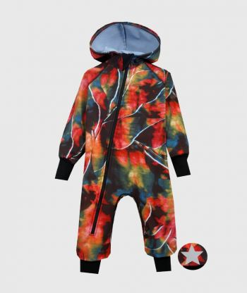 Waterproof Softshell Overall Comfy Abstract Autumn Jumpsuit