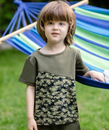 T-shirt Camouflage Green