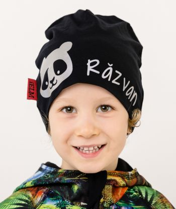 Baggy Hat Reflex Panda Black