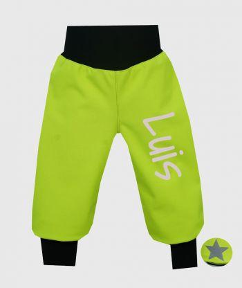 Waterproof Sofshell Pants Neon Green