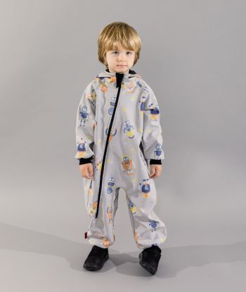 Waterproof Softshell Overall Comfy Robots Jumpsuit
