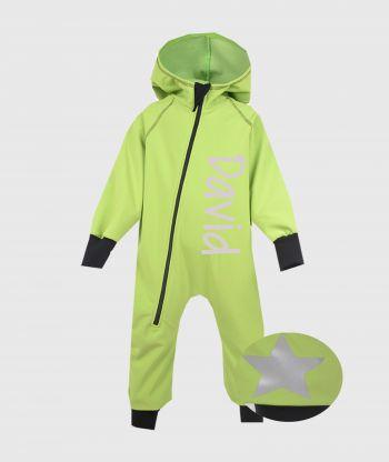 Waterproof Softshell Overall Apple Green Jumpsuit